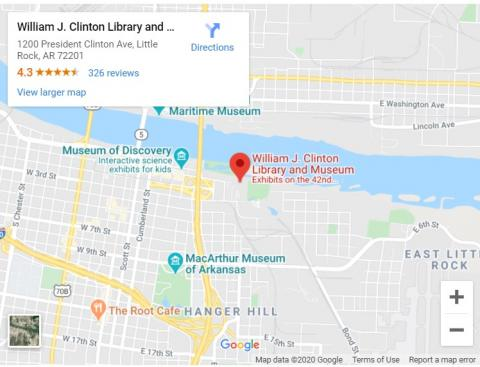 Clinton Library Map